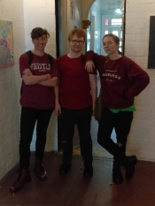 Three Gabriels, a Study in Maroon. Oliver Ayres, Axel-Nathaniel Rose, and Harry Winsome.